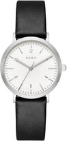 DKNY Minetta Black Leather With Stainless Steel Watch