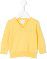 Ralph Lauren v-neck jumper - kids - Cotton - 9 mth