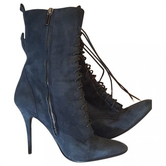 Balmain Blue Suede Ankle boots