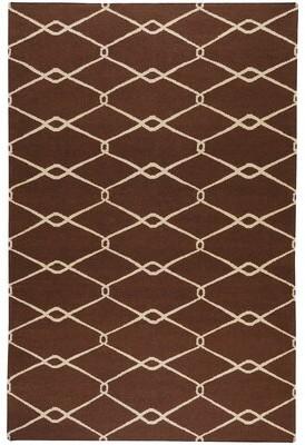 "Surya Fallon Chocolate/Ivory Area Rug Rug Size: Rectangle 3'6"" x 5'6"""