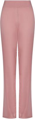 Safiyaa Zaya Silk-Satin Straight-Leg Trousers
