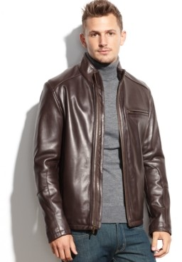 Cole Haan Smooth Leather Jacket