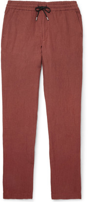 Sease - Hemp Drawstring Trousers - Men - Red