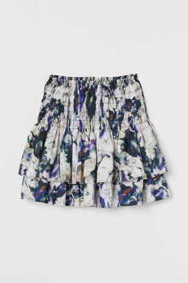 H&M Patterned Tiered Skirt - Purple