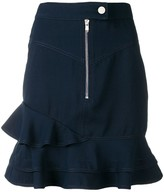 Derek Lam 10 Crosby Washed Canvas Ruffle Skirt