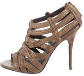 Elizabeth and James Metallic Caged Sandals