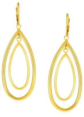 Mayamila 14k Yellow Gold Earrings with Teardrop Dangles