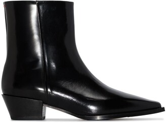 AEYDĒ Ruby leather ankle boots
