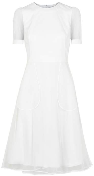 Givenchy White Crepe And Tulle Dress