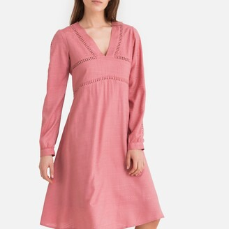 La Redoute Collections Braided Flared Dress