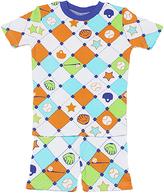 New Jammies White Baseball Organic Shorts Pajama Set - Infant Kids & Tween