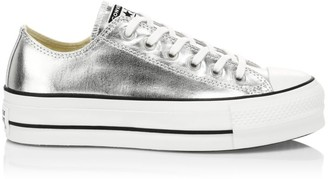 Converse Chuck Taylor All Star Lift Metallic Canvas Low-Top Sneakers