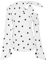 Monse Off-the-shoulder Polka-dot Silk-blend Top - White