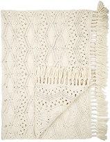 Tabula Rasa Tuva Macramé Italian Wool Throw-CREAM, IVORY