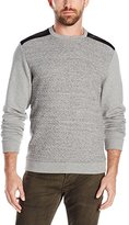 Calvin Klein Men's Long Sleeve Solid Prequilted Crew Neck Sweatshirt