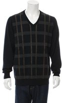 Hermes Leather-Trimmed Wool Sweater