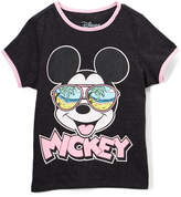 Freeze Mickey Mouse Black Heather Crewneck Tee - Girls