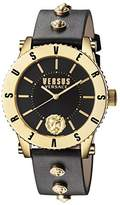 Versus By Versace Women's Madison Quartz Stainless Steel and Leather Casual Watch, Color:Black (Model: S31070016)