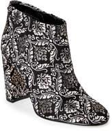 Sam Edelman Black & Gold Campbell Brocade Block Heel Booties