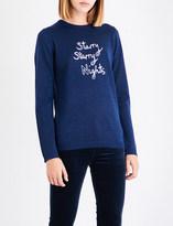 Bella Freud Starry Nights metallic wool-blend jumper