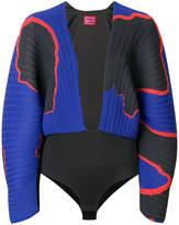 SOLACE London V-neck pleated bodysuit
