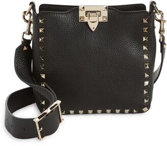 Valentino Mini Rockstud Hobo Crossbody Bag