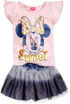 Disney Disney's® Minnie Mouse 2-Pc. Graphic-Print T-Shirt & Scooter Skirt Set, Toddler & Little Girls (2T-6X)