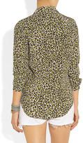 Equipment Brett leopard-print washed-silk shirt