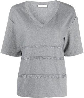 Fabiana Filippi oversized V-neck T-shirt