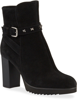La Canadienne Marilyn Waterproof Suede Platform Booties