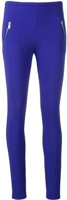 Emilio Pucci Blue Zip Pocket Leggings