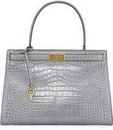 Tory Burch Lee Radziwill Large Embossed Satchel Bag