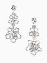 Kate Spade Crystal lace linear earrings