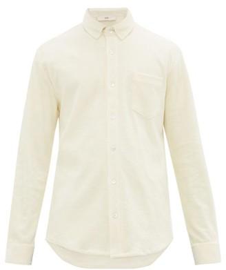 Séfr Leo Terry-towelling Cotton Shirt - Mens - Cream