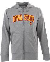 Antigua Men's Iowa State Cyclones Signature Zip Front Fleece Hoodie