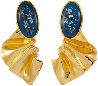 EJING ZHANG 'Martineau' resin stud earrings