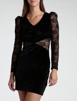 Eric Daman Velvet and Lace Dress