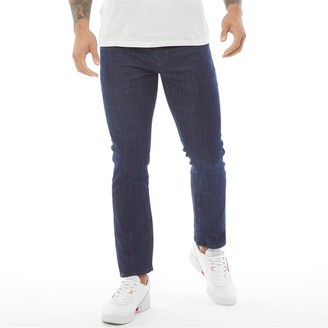 Crosshatch Mens Farrowed Stretch Jeans With Belt Raw