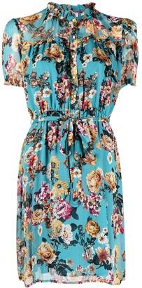 Liu Jo Floral Print Tie-Waist Dress