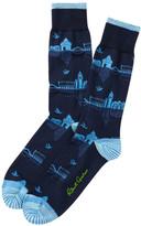 Robert Graham Port of Venice Crew Socks