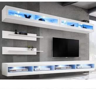 Orren Ellis Lonergan Floating Entertainment Center for TVs up to 75 inches Orren Ellis Color: Oak