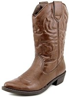 Rampage Valiant Pointed Toe Synthetic Western Boot.