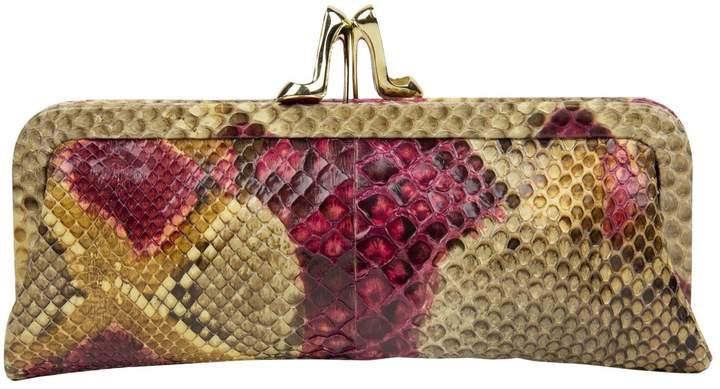 Christian Louboutin Pink Python Clutch Bag