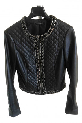 Silvian Heach Black Leather Leather jackets