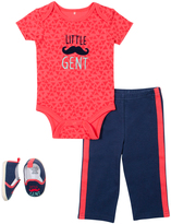Cutie Pie Baby Red & Navy 'Little Gent' Bodysuit Set