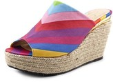 J. Renee Prys Women Us 7 W Multi Color Wedge Sandal.