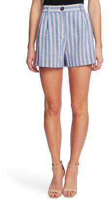 CeCe Pleat Front Double Stripe Shorts