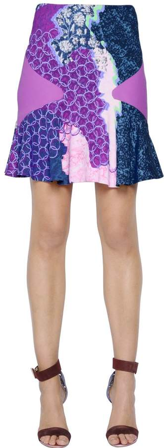 Peter Pilotto Ruffled Viscose Printed Skirt