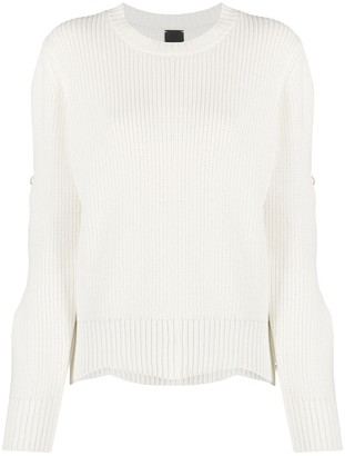 Pinko Pearl-Embellished Cut-Out Knitted Jumper