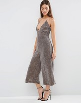 Asos NIGHT All Over Sequin Jumpsuit with Culotte Leg